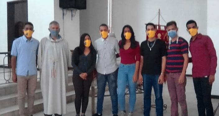 Integrantes de la fundación Voluntarios en Acción, de Guatire y Araira, en Miranda