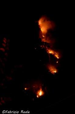 incendio nerano 25 agosto sera
