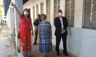 Regina Sousa e autoridades da Segurança visitam nova sede da CEPM