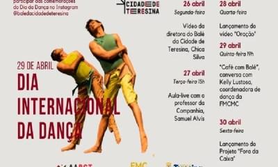 Balé da Cidade de Teresina comemora o Dia da Dança com atividades remotas