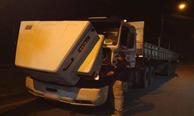 PRF prende caminhoneiro flagrado na BR 343 com carreta roubada