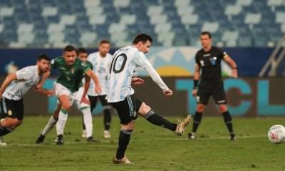 Messi dá show, bate recorde e Argentina goleia Bolívia na Copa América