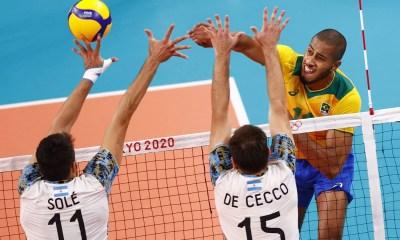 Brasil perde para Argentina e fica sem o bronze no vôlei