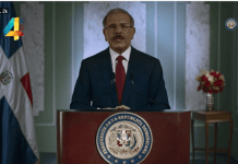 """Durante una alocución al país, a través de la televisora estatal, el presidente Medina sostuvo que los valores """"son los que nos definen como persona, nos definen político y nos definen como servidores públicos""""."""