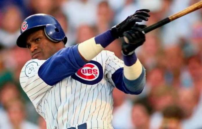 """$!Sammy Sosa se convirtió en su momento, en el pelotero dominicano """"más caliente"""" del béisbol de Grandes Ligas."""