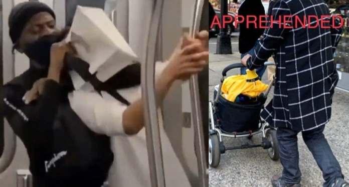 Uno de ellos en un tren subterráneo en Brooklyn, cuando un afroamericano golpea salvajemente a un hombre y luego aplica una llave de estrangulamiento hasta que se desmaya. La víctima fue trasladada al hospital