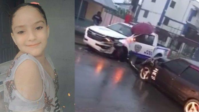 La infante había sufrido un accidente el pasado 5 de abril, al chocar el vehículo que iba con una patrulla policial./Fuente externa.-