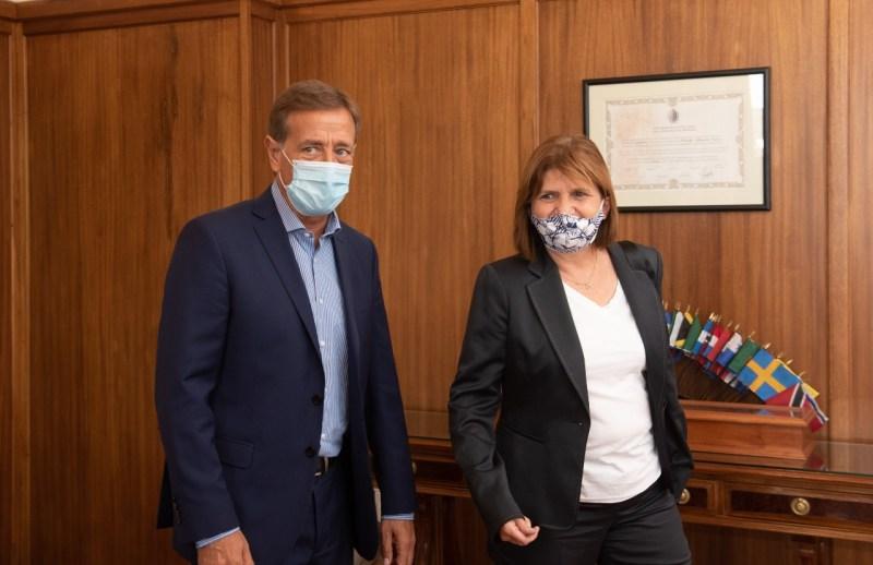 Resultado de imagen para Suarez recibió a Patricia Bullrich para dialogar acerca de los desafíos futuros de Mendoza y del país