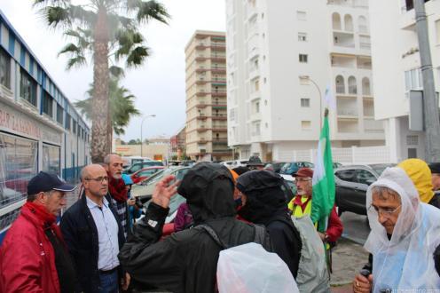 ARAGON RECIBIO A LOS PARTICIPANTES SENDERISTAS LA DESBANDA 17