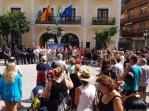 MINUTO DE SILENCIO Y BANDERAS A MEDIA ASTA EN ALMUÑECAR POR BARCELONA 17