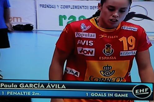 Paula García debutó con éxito en Melilla ante Turquía (1)