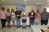 Galardonados y representantes en el XIX Open de Ajedrez de la FEDEC ONCE en Almuñear 17