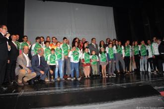 TODOS LOS GALARDONADOS CON SUS MAILLOT DE CAMPEONES ANDALUCIA 17