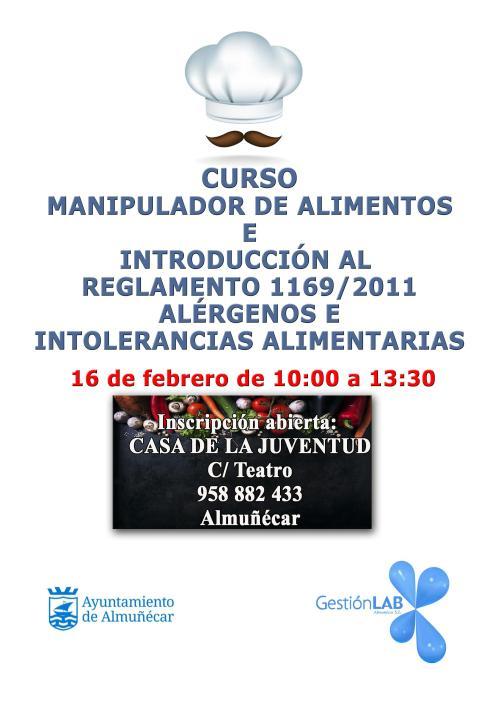 Cartel Curso manipulador Almuñécar 2018