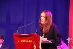 Sonia Sanchez Pozo durante el pregón de Semana Santa La Herradura 2018