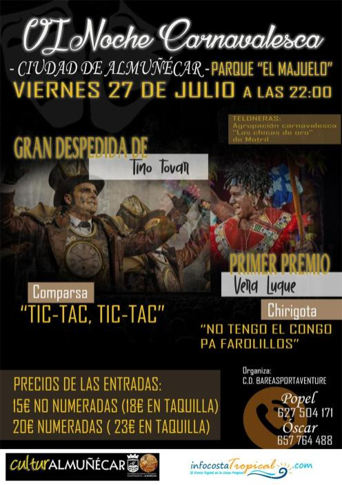 27 JULIO VII NOCHE DE CARNAVAL ALMUÑECAR