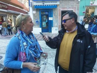 DANI RTVE ENTREVISTA A CAROLINA RODRIGUEZ LOTERIA NAVIDAD 19
