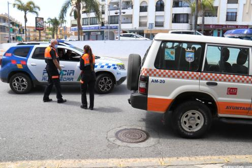 PROTECCION CIVIL Y POLICIA LOCAL EN ESTACION AUTOBUSES 20