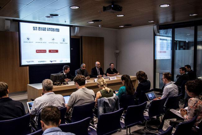 La Policía Nacional Holandesa, la Europol, Intel Security y Kaspersky Lab anuncian la iniciativa No More Ransom (Fotografía: Kaspersky)