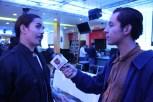 Damián Romero en entrevista / Foto: Igal Weintraub