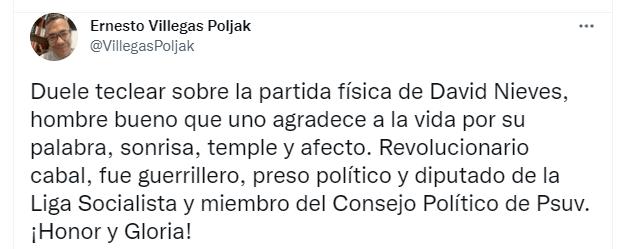 David Nieves: Nombre obligado al hablar de la lucha revolucionaria en Venezuela (+¡Honor y gloria!)