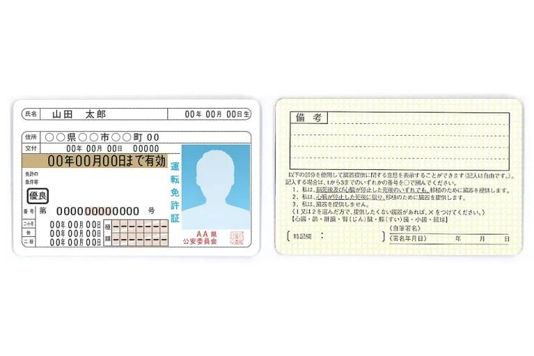 運転免許証に旧姓を併記