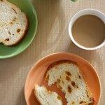 寒い日に熱いパン
