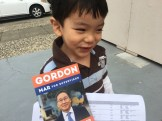 Smiles as we are doing our lit drop for Gordon Mar.