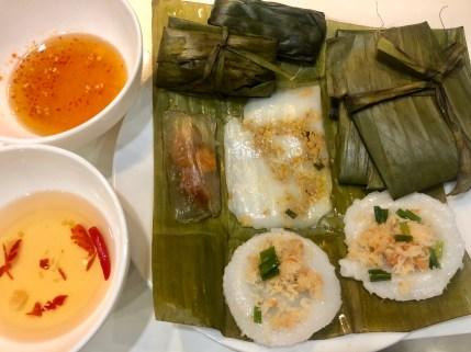 Banh nam, banh beo (flat rice dumplings)