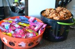 candy for trick or treaters, chex mix for the school