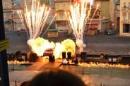 Car stunt show finale