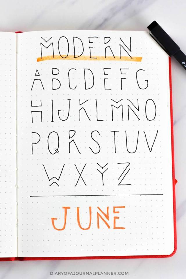 Bullet Journal Fonts (25 Fonts For Bullet Journal You Need To Try!)