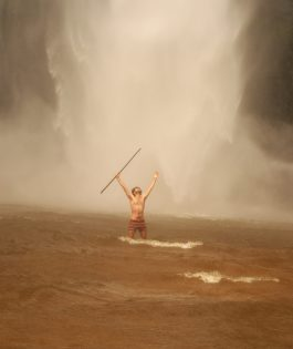 in the might of the Wli Waterfalls, Ghana Africa