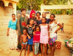 With Muslim family, The Gambia.