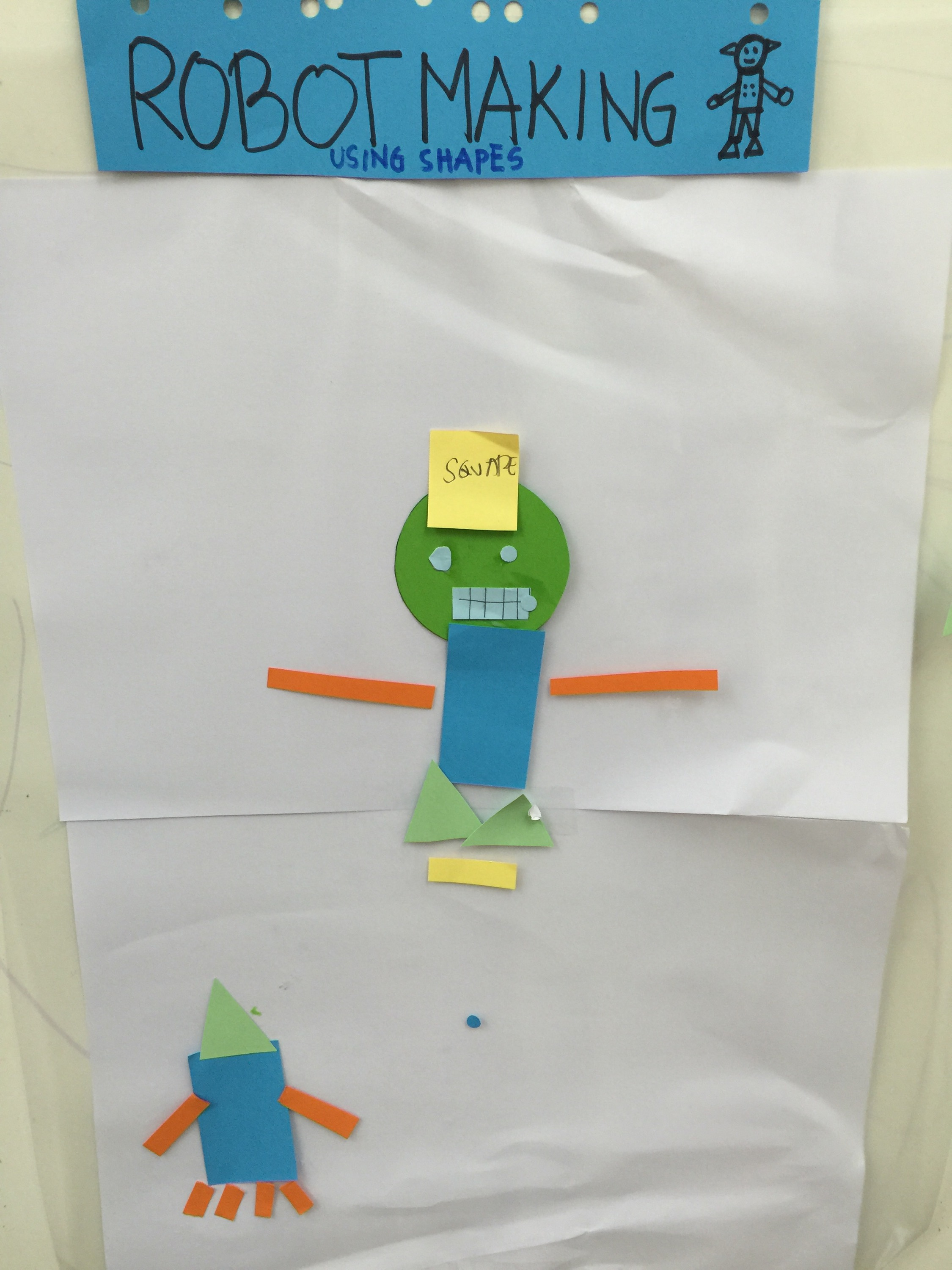Robot Making Using Shapes Diary Of A Newbie Mom S Blog