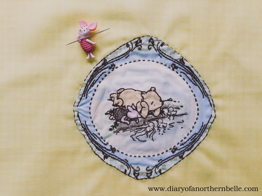 embroidered appliqué patch for pillow front
