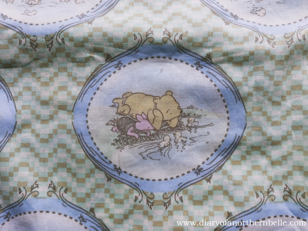close-up of winnie-the-pooh fabric
