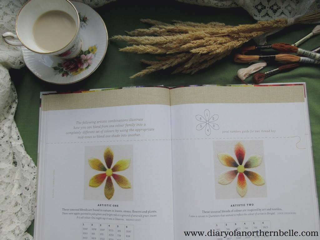 inside pages of Colour Confidence in Embroidery by Trish Burr