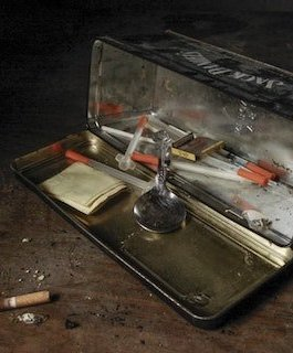 heroin needles in a box