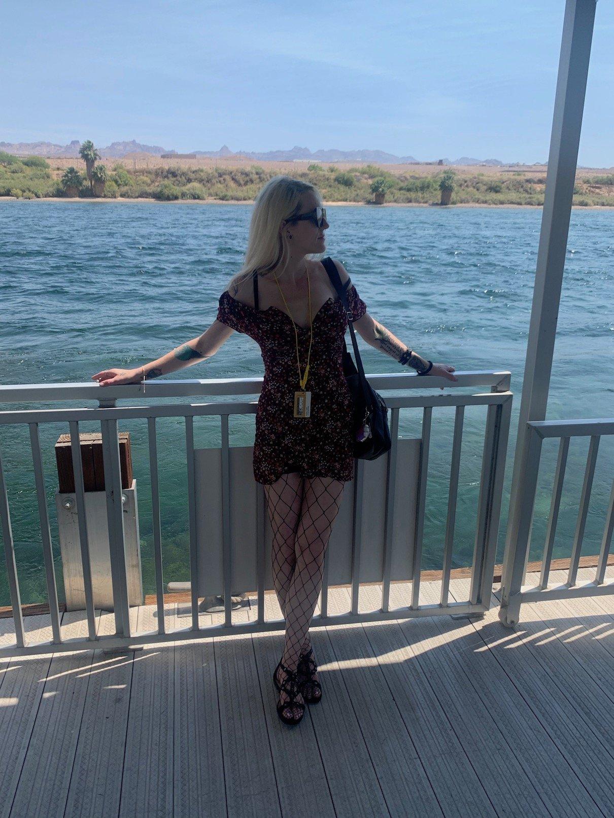 me standing on Laughlin boat dock