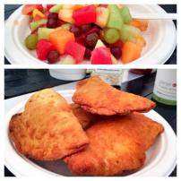 Bannock buddies and fruit. Photo c/o Kevin Bailey