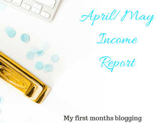 Income report for my first month of blogging. Mom blogger income report.