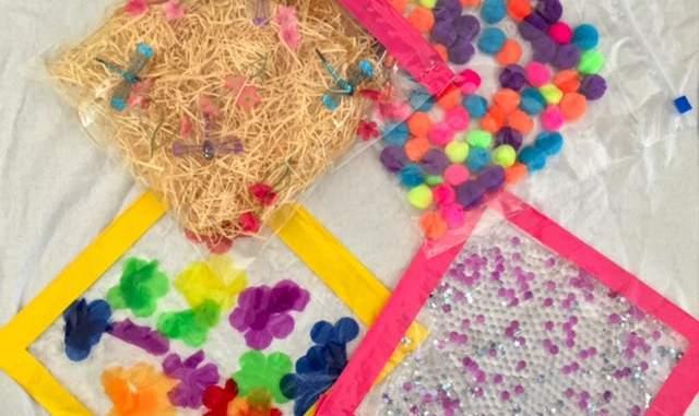 How to make cheap easy sensory bags