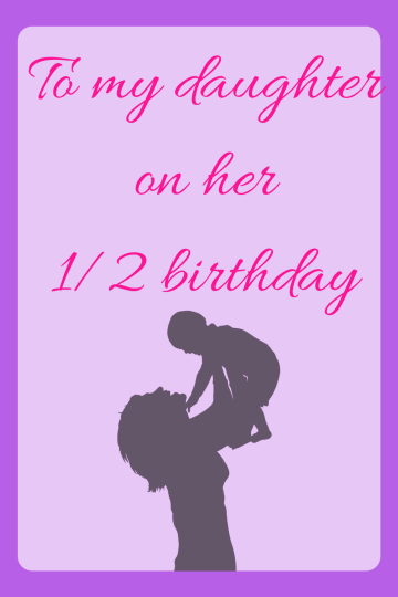 baby half birthday