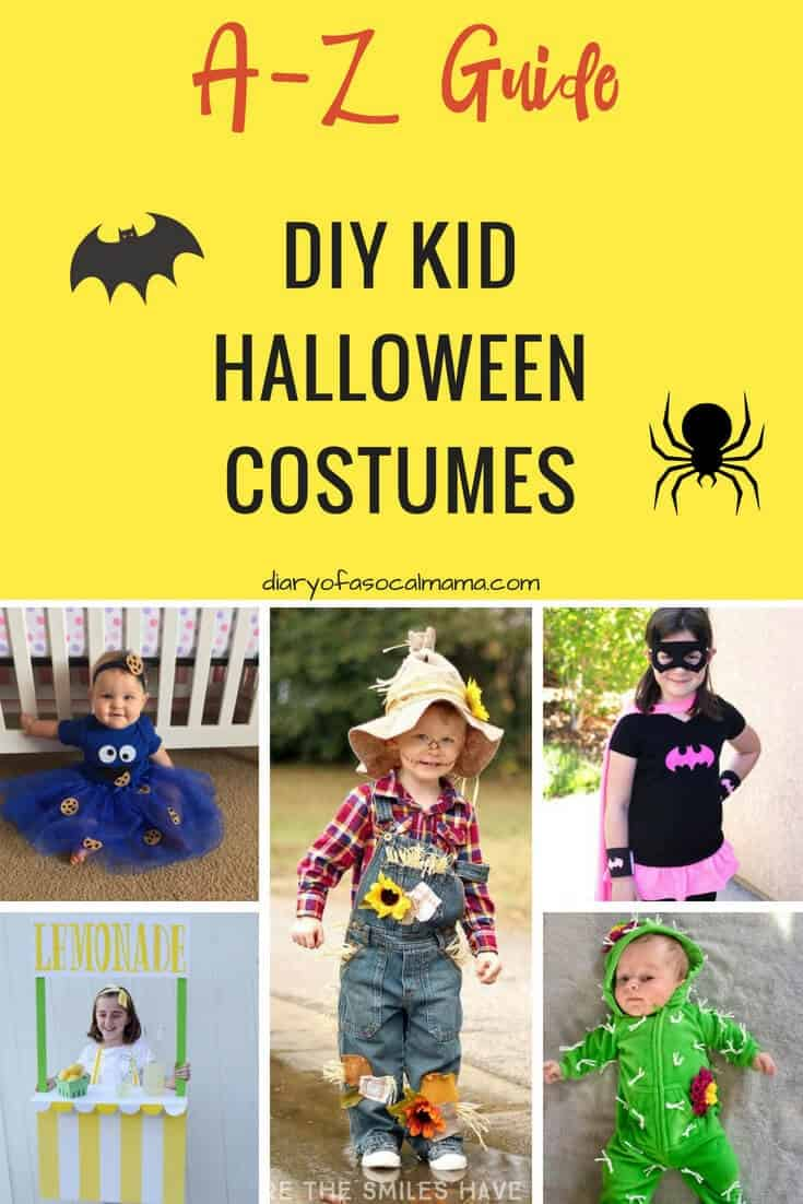 Easy DIY Halloween Costumes  sc 1 st  Diary of a So Cal mama & A-Z guide to Easy DIY Halloween costumes - Diary of a So Cal mama