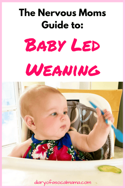 baby learning how to do baby led weaning