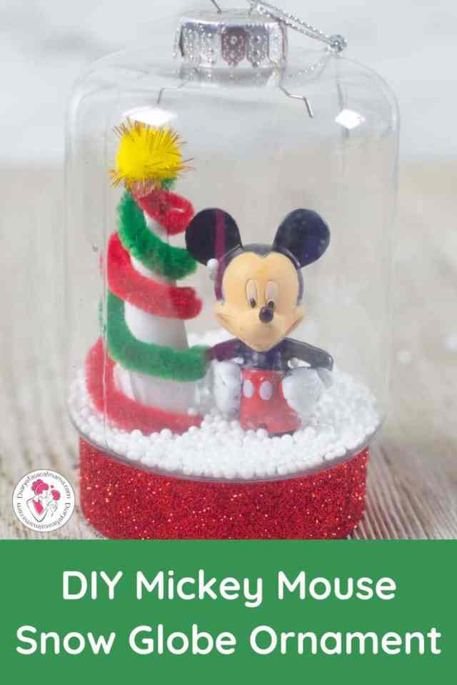 Mickey snow globe ornament