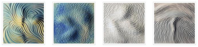 Textured tiles by Natalie Blake Studio