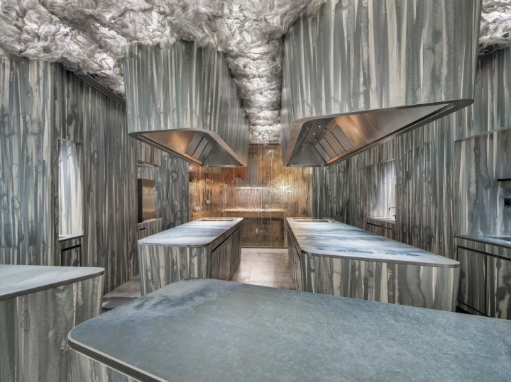 Neolith surfacing at Enigma: Albert Adrià's stunning Barcelona restaurant by RCR Arquitectes