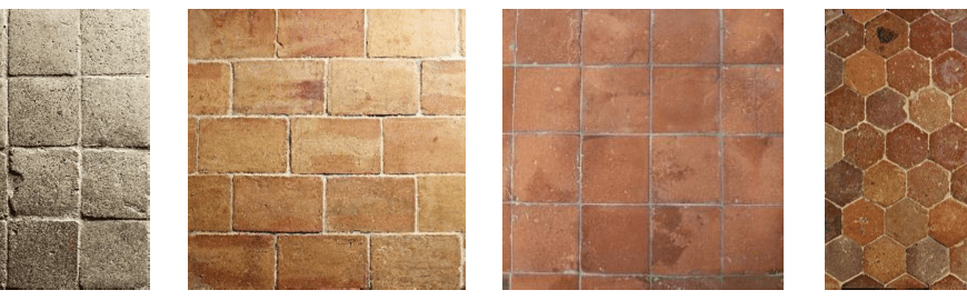 A selection of genuine Antique Terracotta floor from Lapicida.